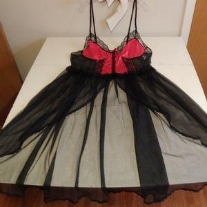 Vintage plus size sheer burlesque lingerie